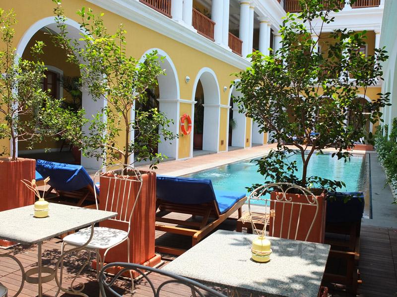 Quaint Pool at Palais De Mahe, Pondicherry