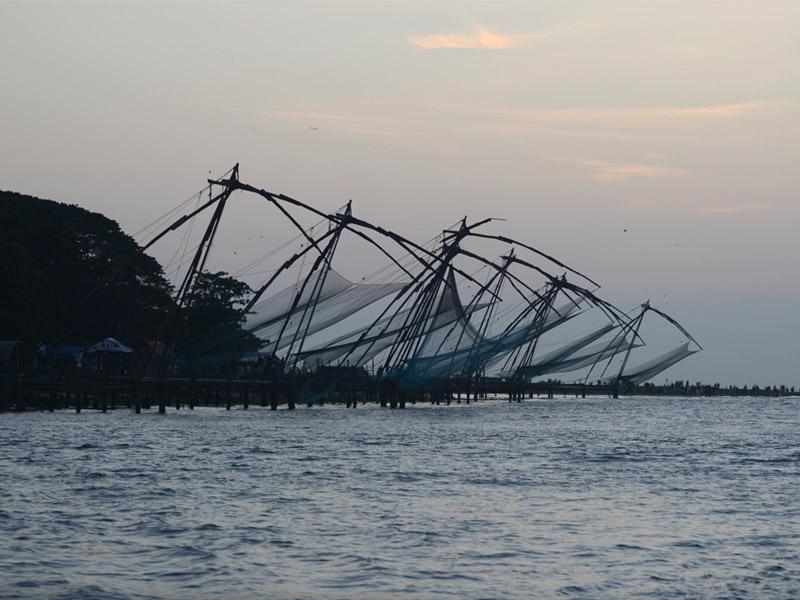 Chinese Fishing Net Along the Coast, Kochi