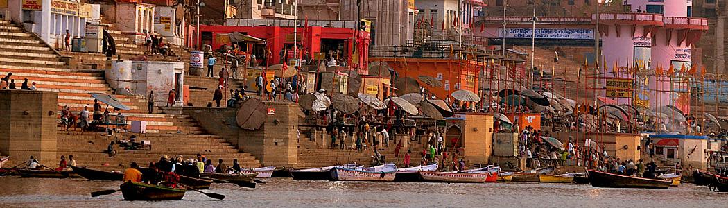 Chaatris at the main ghat