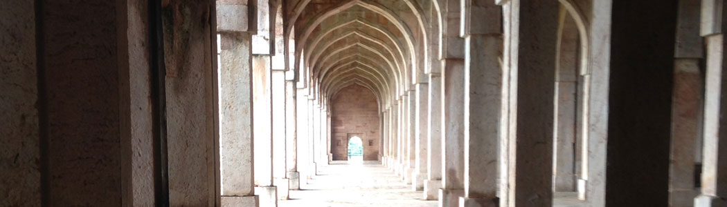 Corridors at the Mandu Fort
