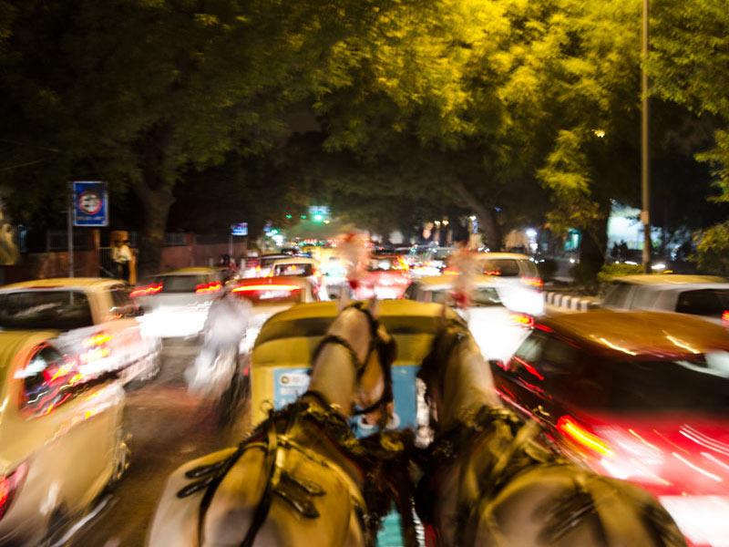 Enjoying Delhi By the Night